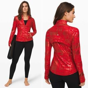Lululemon Define Jacket Manifesto Red Foil 12 NWT